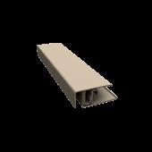 Two-part lacquered aluminium edge trim 5mtr