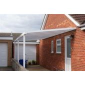 Lean to Canopy 1.6M projection 2.5M Width Carport White