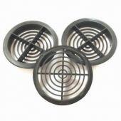 Circular Soffit Vents Black 70mm