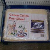 Dust Sheet Cotton Calico 2.7M x 3.6M