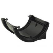 Half Round Gutter Union Bracket - 112mm Black