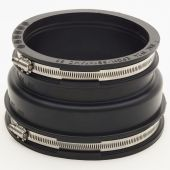 Drainage Flexible Coupling/ Adaptor Stepped 121-136mm To 100-115mm