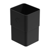 Square Large Downpipe Socket - 80mm x 70mm Anthracite Grey
