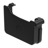 Square Gutter Large Left Hand Stopend - 135mm Anthracite Grey