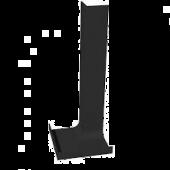 300mm Internal Fascia Corner Black