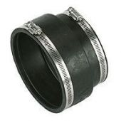 Drainage Flexible Coupling/ Adaptor Stepped - 108mm-122mm x 121mm-137mm - Pack of 10